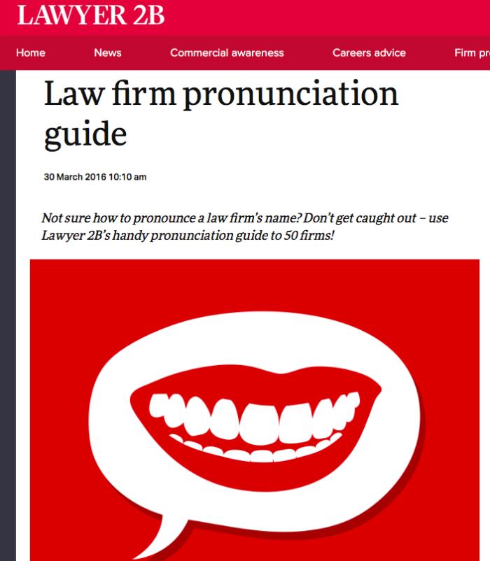 Law firm pronunciation guide